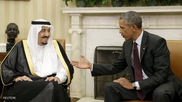 خادم الحرمين الشريفين مع الرئيس الأمريكى