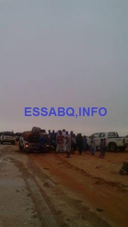 صورة من الحادث لحظات بعد وقوعه