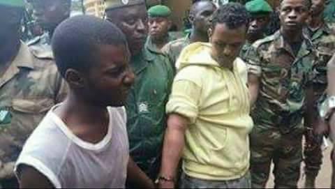 صورة للسجين الفار لحظة إلقاء القبض عليه