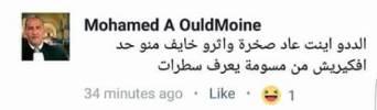 تدوينة للسافل الساقط المنحط الهابط محمد ولد أمين