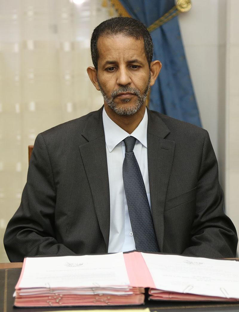 الوزير الأول الموريتاني  المهندس / اسماعيل ولد بده ولد الشيخ سيديا