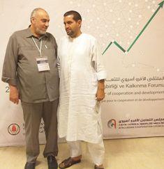 المهندس منير سعيد مع المدير الناشر الزميل سيدي ولد عبيد