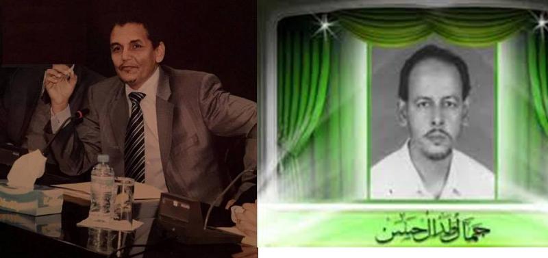 """صورة للعلمين البارزين  جمال ولد الحسن و محمدن ولدسيدى المقلب """" بدن """""""