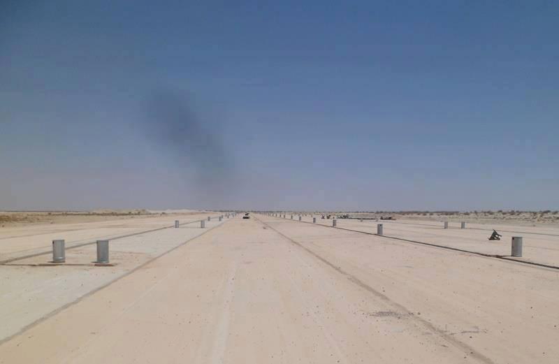 أراضي المطار القديم وهي قفار بعد عزوف الزبناء عن شراءها