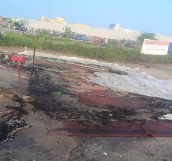 الخيام بعد تعرضها لعملية حرق متعمد