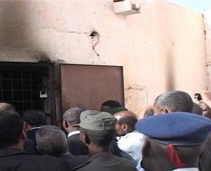 صورة من سجن الزويرات يوم إقدام الجانى على إضرام النار فيه