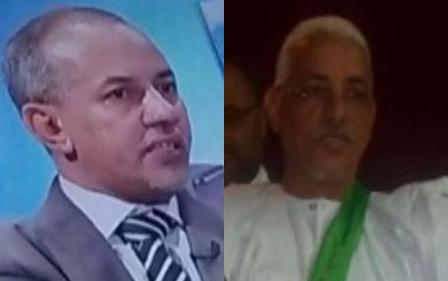 العمدة الدكتور جمال ولد كبود رفقة  سلفه امين ول اب