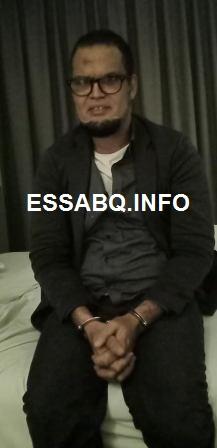 المدعو / سيدي محمد ولد ببانه لحظة اعتقاله من طرف الأمن السينغالي
