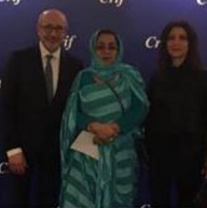 السفيرة بنت امحيحم وهي في موقف مخز ومذل مرتمية في احضان اليهود