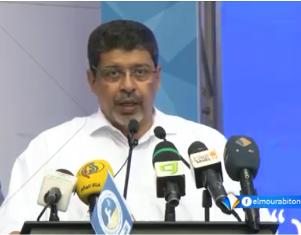 الرئيس سيدي محمد ولد محم  / رئيس الحزب الحاكم في موريتاني