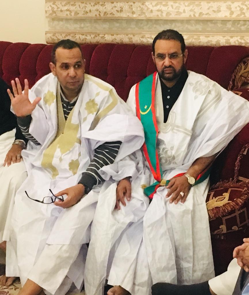 القنصل العام دمان ولد همر رفقة المنسق العام للجالية النائب ابو عبد ابرحمن