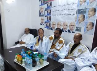 المنصة الرسمية حيث يجلس النائب ابو عبدالرحمن و منسق الحمة د/ عبدالله ولد الإغاثة