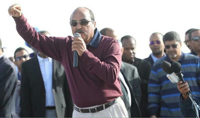 فخامة الرئيس اثناء إلقاءه كلمة في المسيرة المناهضة للكراهية و العنصرية