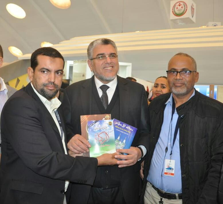 وزير الدولة لحقوق الإنسان المغربي يتسلم كتب عالي محمد الشرفاء الحمادي