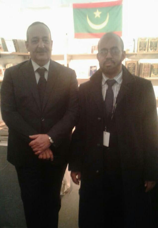الوزير محمد الأعرج رفقة الدكتور آلا بن محمدن بن منيه