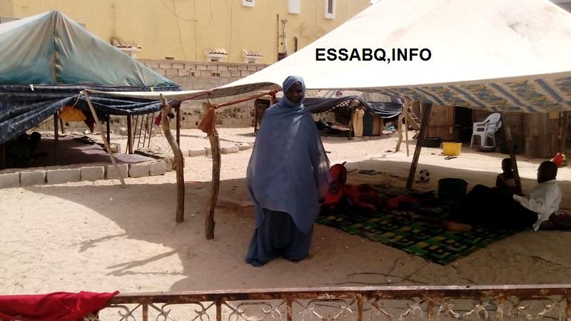 صورة المتضررة : لسليمى منت لولي ولد صمبو