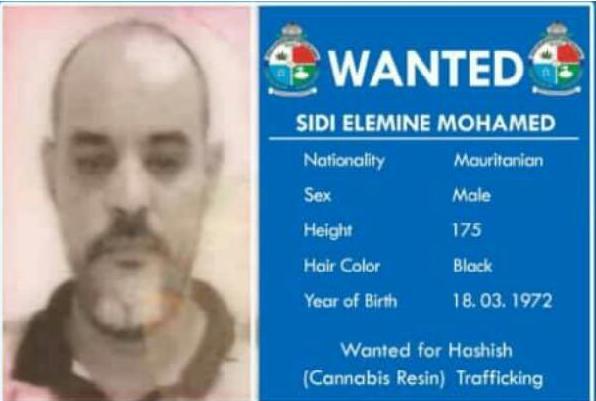 مذكرة القبض الدولي التي صردت في حق المواطن محمد ولد سيد ألمين