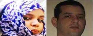 المدونة أماني أطار  المتهمة بالمتاجرة بالمخدرات  و السجين بزرة ولد هيداله