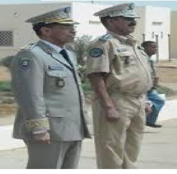 الجنرالان  : سلطان ولد اسواد و مسغارو ولد اقويزى قائدا اركان الدرك والحرس