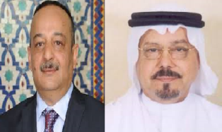 المفكر علي الشرفاء الحمادى رفقة وزير الثقافة المغربي السيد محمد الأعرج