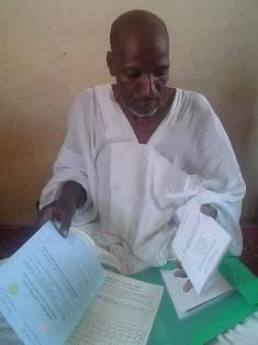 السيد الخيل ولد سكي رئيس مكتب تصويت ببلدية بوبكر بن عامر