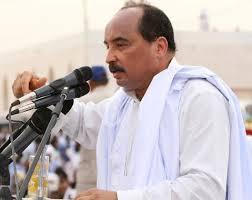 الرئيس ولد عبد العزيز في احدى خرجاته
