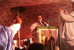 رئيس مُبادرة الوفاء في نشاطِ سابق للمبادرة دعما للرئيس ولد عبد العزيز