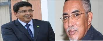 الرئيس سيدي محمد ولد محم  و الوزير يحي ولد حدمين