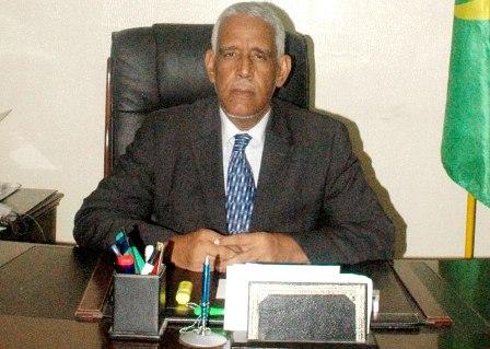 معالى  وزيرالعدل الموريتاني الأستاذ المحترم  / ابرهيم ولد داداه
