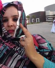 السيدة امنة منت الزوين ـ التي تم الاعتداء عليها في حفل إفطار  نساء UPR