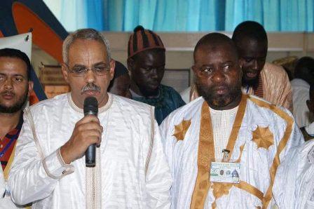 سعادة السفير شيخنا ولد الننى وهو يلقى كلمة الوفد الرسمى الموريتاني