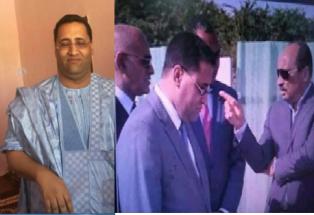 وزير التجويع و جمع المكوس النهم ولد اجاي في وضع مخز مذل مهين