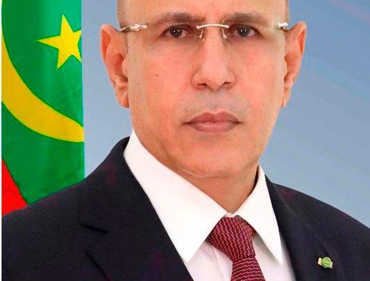 الرئيس الموريتاني  / محمد ولد الشيخ الغزواني